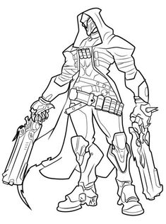 Fortnite battle royale coloring page Red Knight male skin