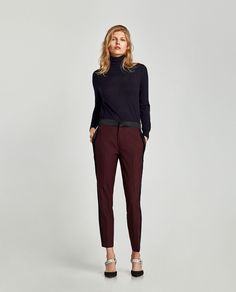 ZARA - WOMAN - TROUSERS WITH SIDE BANDS