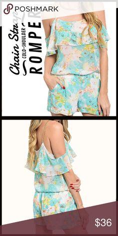 Chain Strap Floral Romper Chain Strap Floral Romper Boutique Pants Jumpsuits & Rompers