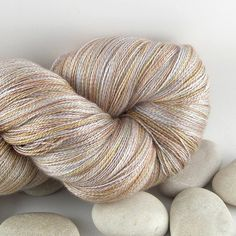 Hand Dyed Cashmere Silk Knitting Yarn - Lace Weight, Variegated - Sand ~ SunnysideEllen (unknown price)