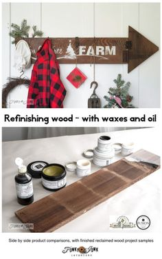 Refinish wood with these must have waxes and oil, with project samples! by Funky Junk Interiors for ebay.com