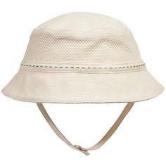 Naturapura Baby Ivory Organic Cotton Piqué Sun Hat at Childrensalon.com
