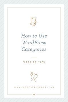 How to use WordPress Categories via @restored316