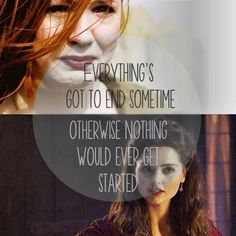 Everything's got to end sometime. Otherwise nothing would ever get started. #DoctorWho
