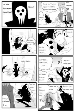 Death the Kid and Shinigami-sama by TammytheShinigami.deviantart.com on @DeviantArt
