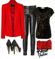 Rojo y negro,muy lindo.