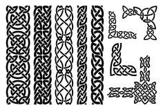 Illustration about Set of celtic patterns and celtic ornament corners in black. Illustration of decor, artwork, line - 49498401 Celtic Border, Celtic Triangle, Celtic Symbols, Celtic Art, Celtic Knots, Design Celta, Viking Ornament, Foto Do Goku, Viking Pattern