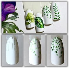Fashion trends summer manicure new photos Flower Nail Designs, Flower Nail Art, Nail Art Designs, Nails Design, Tropical Flower Nails, Super Nails, Creative Nails, Nail Tutorials, Trendy Nails