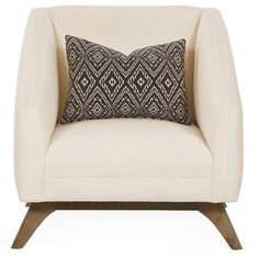 One Kings Lane - A Place in Paris - Nolen Chair, White