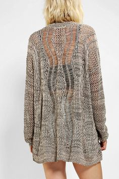 Staring At Stars Open-Stitch Crochet Cardigan - It looks knit to me (I can't verify), but it's cool either way.