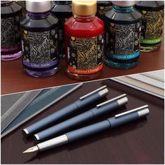 Coming this week: more Diamine Shimmering inks and limited edition Lamy Scala fountain pens! . #comingsoon #lamyscala #fountainpen #fountainpenaddict #lamyscalaglacier #diamineshimmering #fountainpenink #shiny