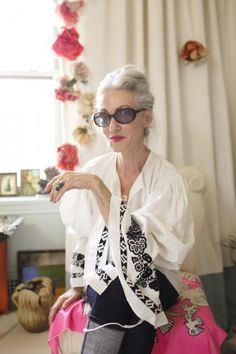 "Linda Rodin, owner and creator of RODIN olio lusso (Italian for luxury oil) has the motto ""Never too old for anything!"" awesome!! love her!!!"