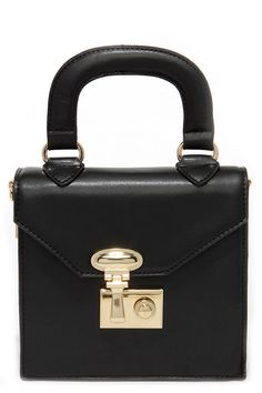 All of My Heart Black Mini Handbag