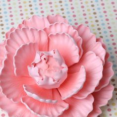 Pink Closed Gumpaste Peony sugarflower cake toppers perfect for cake decorating rolled fondant wedding cakes and birthday cakes.  | CaljavaOnline.com #caljava #peony #sugarflower
