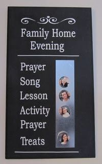 Nothing2Fancy Vinyl Lettering: Family Home Evening Board