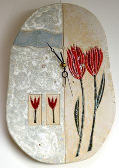 Handmade ceramic clock