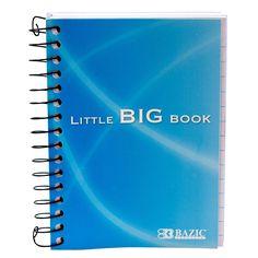 "Bazic Products 518-48 4"" X 5.5"" Premium Spiral Fat Book Notebook Assorted Colors"