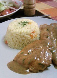 Φιλέτο Κοτόπουλο με Sauce Μουστάρδας & Θυμάρι