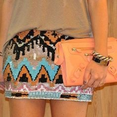 love this aztec sequin skirt. so fun.