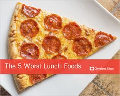These 5 foods are #diet disasters waiting to happen. #lunch #calories