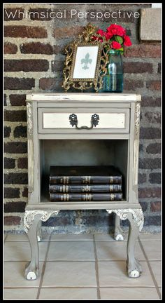 Beautiful Chalk Painted Side Table by WhimsicalPerspective on Etsy, $95.00