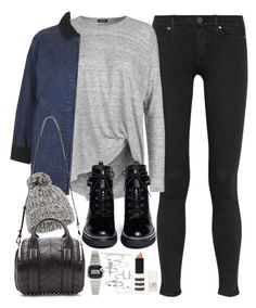 """""""Outfit for winter"""" by ferned on Polyvore featuring Paige Denim, 2nd Day, Topshop, MICHAEL Michael Kors, Casio, Accessorize and Alexander Wang"""
