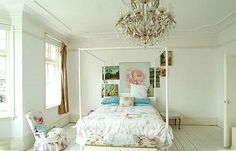 Chandelier Dreams: I've always wanted a chandelier in my room, one day!