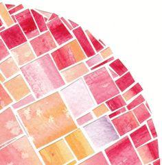 Paper Art, Paper Crafts, Paper Mosaic, Paint Chips, Painted Paper, Mosaic Glass, Watercolor Paper, Creative Art, Original Artwork