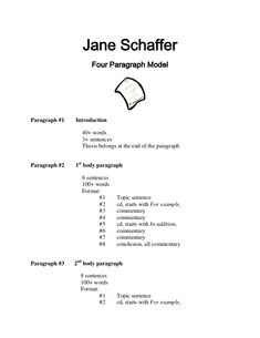 jane schaffer model for a one paragraph essay by hxi  compare and contrast essay introduction paragraph jane schaffer