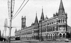 The Melbourne Corporation Markets also known as The Fish Market was located at the south-east corner of Flinders and Spencer Streets. Built in 1890 and demolished in 1959. http://www.walkingmelbourne.com/forum/viewtopic.php?t=401