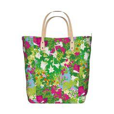 沖縄の春をイメージしたデザインです。/うりずん トートL - TreeSparrowGarden