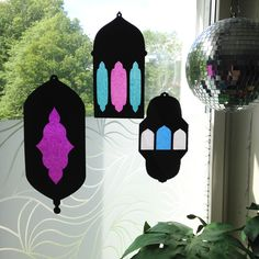 """Salaam Aleikum, I'm so happy to share this template with you for Ramadan crafts, with or without kiddos ;). Cut out the shape with scissors or x-acto knife (use the knife for the """"windows"""", it is r..."""