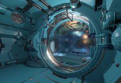 Spaceship Interior, Futuristic Interior, Spaceship Design, Spaceship Concept, Environment Concept Art, Environment Design, Space Story, Space Interiors, Prop Design
