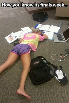 I looked exactly like that during midterms too! ;-)