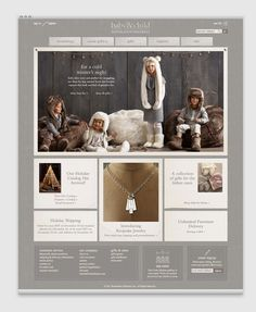 Character | Branding & Design Agency  Website design for Restoration Hardware's baby and child