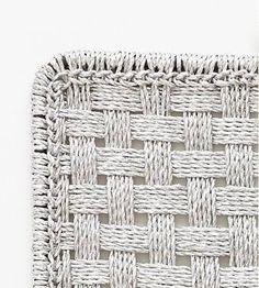 Silver Mat Detail Anthropologie/Remodelista | handwoven over a metal frame