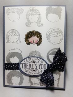 Sweetie pie for my curly girl daughter by Sherri Retton, Basic black, smokey slate, Wisteria wonder and elegant eggplant inks Sweetie pie stamp set, chalk talk stamp set and sweetie pie frames stamp set.