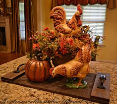 fall home decor Cool 49 Stylish Fall Kitchen Design For Home Dcor. Autumn Decorating, Tuscan Decorating, Decorating Ideas, Interior Decorating, Decor Ideas, Interior Design, Fall Home Decor, Autumn Home, Rooster Decor