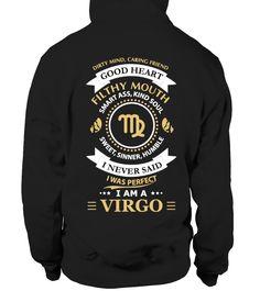 VIRGO SHIRTS (BACK) - Limited Edition  #birthday #september #shirt #gift #ideas #photo #image #gift #study #virgo #schoolback #Horoscope
