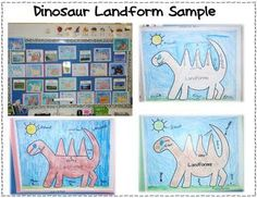 Here's a cool model for using a dinosaur to teach about landforms.