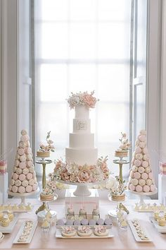 33 Vintage To Modern Wedding Dessert Table Ideas ❤ See more: http://www.weddingforward.com/wedding-dessert-table-ideas-vintage-modern/ #weddings #cakes