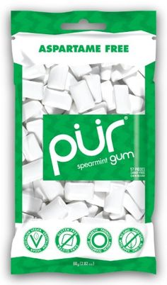 Pur Gum, Spearmint, 57 pieces