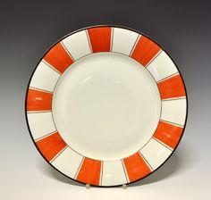 Plate by Nora Gulbrandsen for Porsgrund Porselen. In production between Model nr Decor nr 4802 Orange Is The New, Norway, Art Deco, Porcelain, Pottery, Plates, Ceramics, Tableware, Hot