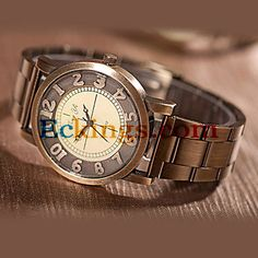 Women'S Round Steel Quartz Analog Dress Watch : Online Shopping for Watches, Toys & more