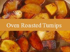 Looking for a delicious fall side dish?  Try this oven roasted turnip recipe
