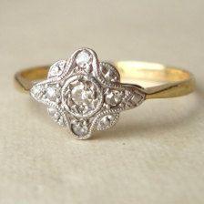 Diamond, Antique & Handmade Engagement Rings - Etsy
