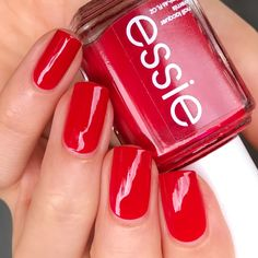 Essie Really Red, by Nail Colors, Colours, Elegant Nails, Nails On Fleek, Essie, Skincare, Hair Beauty, Nail Polish, Women's Fashion
