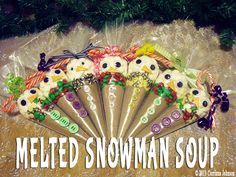Homemade Melted Snowman Soup for kids and grown ups - 5 recipes including 4 coffee and liqueur ones for the adults