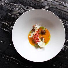 Lobster, Bouillabaisse, Yogurt, Black Garlic & Lardo @seanymacd @rafacovarrubias @jordan.wilkie