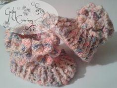 Botines punto de cocodrilo #crochet #lindasCreaciones tejido a mano ♥